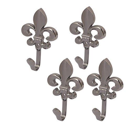 Escudo eDealMax la forma del bolso de la flor de pared de metal gancho de la suspensión individual 4pcs Negro - - Amazon.com
