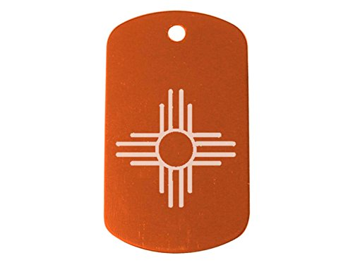 ZIA Sun NM New Mexico Orange Dog Tag Custom Engraved By NDZ Performance