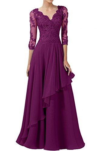 Damen Rock Elegant Charmant Linie Schwarz A Lang Chiffon Brautmutterkleider Abendkleider Fuchsia Weiss Spitze 4Rqn1