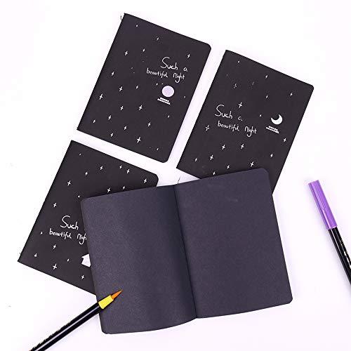 6 Pcs Black Paper Graffiti Sketchbook, 56k Mini Book for Vibrant Metallic Marker Drawing Painting Sketching Impressive Idea (Best Random House Of The American Poetries)