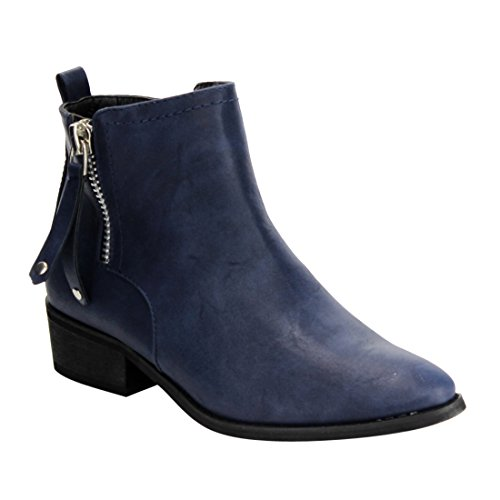 navy blue ankle boots - 2