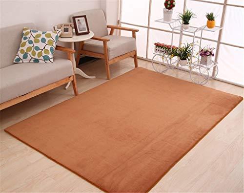 (BaiJu Fashion Memory Bedroom Rugs Mats Carpet Doormat for Hallway Living Room Kitchen Floor Outdoor Khaki 800mm x 1600mm)