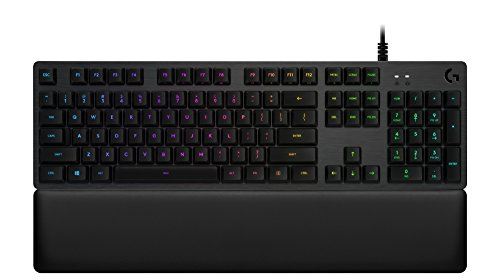Logitech G513 RGB Backlit Mechanical Gaming Keyboard with Romer-G Linear Keyswitches