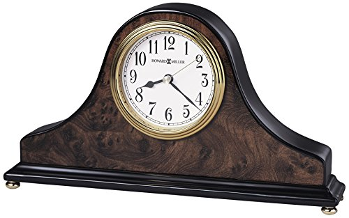 Piano Wood Desk Clock (Howard Miller 645-578 Baxter Table Clock)