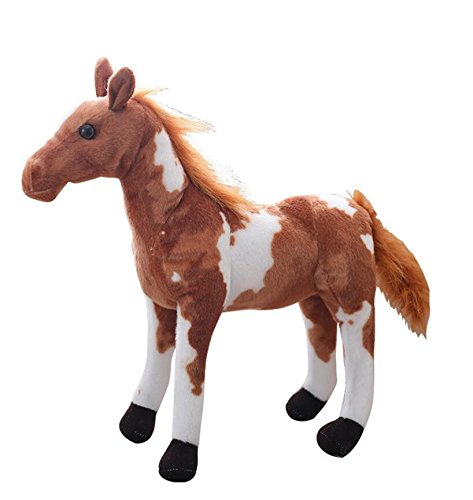 Pinjewelry Home Decoration Soft Toys The Horse Soft Plush Toy 30cm Tall American Paint Horse Plush Dolls Stuffed Kids Gift (Dark Brown) by Pinjewelry