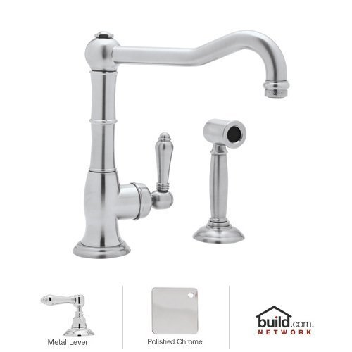 Rohl A3650LMWSAPC-2 B2160/1Apc Faucet with Side Spray and Metal Lever Handle, Polished Chrome by Rohl