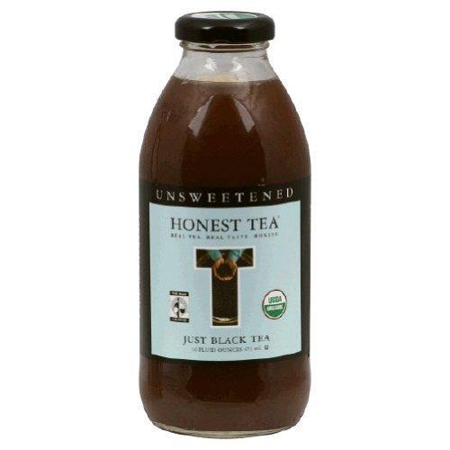 Honest Tea Organic Just Black Unsweetened Tea Bottle ( 12x16 OZ)