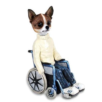 Amazon.com: Chihuahua Brindle y blanco Silla de ruedas ...
