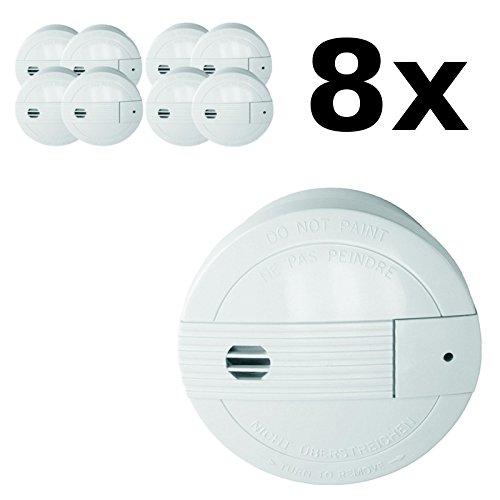 8 detectores de humo con radio emisoras para 24 horas - Smartwares SA68B: Amazon.es: Hogar