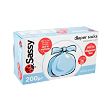 Sassy Baby Disposable 200 Counts Diaper Sacks