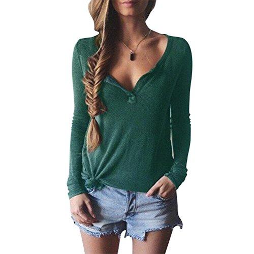 Colore Pullover Inverno Verde Donna a Maglione e Maglione Lunga L Fitness Autunno Casual Manica Maglione Maglia Lunghe Maniche Dimensione Yingsssq Verde angRpn