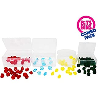Game Pieces Storage for Board Games, Combo Pack of Pods, XL's and BitsBins, 18 Total Clear Empty Boxes, Works with Pandemic, Carcassonne and Most of your Favorite Board Games