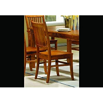 Coaster Home Furnishings 100622 Casual Side Chair, Medium Brown, Set of 2