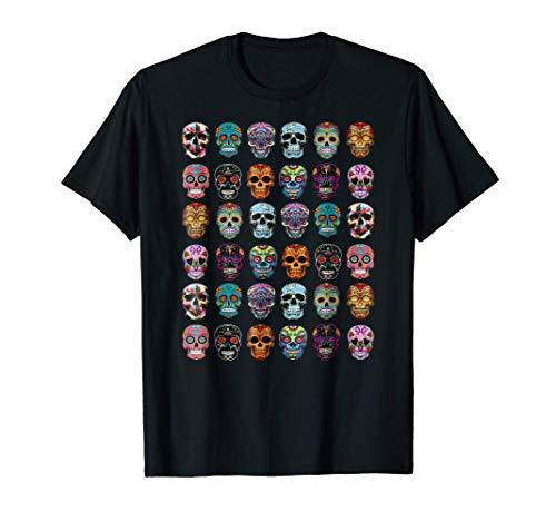 Day of the dead Sugar Skulls 2019 Halloween T-shirt