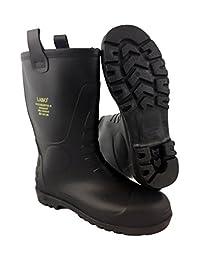 LB Mens Waterproof Fur Interior Rubber Sole Winter Snow Rain Boots Insulated