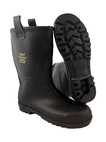 LABO Men's Winter Snow Boots Shoes Waterproof Insulated Lace UP (D,M) Rain-Fur Black-9
