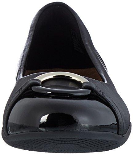 Neenah Leather Noir Ballerines Vine Clarks Femme black awn1zqdS7