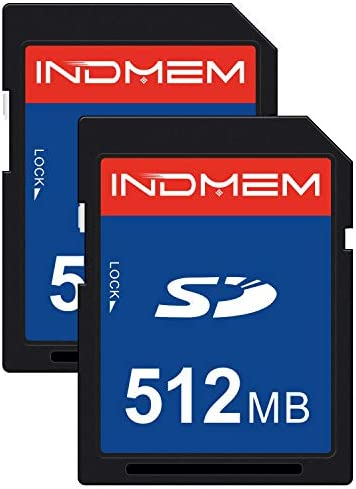 2 Pack SD Card 512MB Class 4 Flash Memory Card 512M Standard Secure Digital Cards C4 (IN512SD2P)