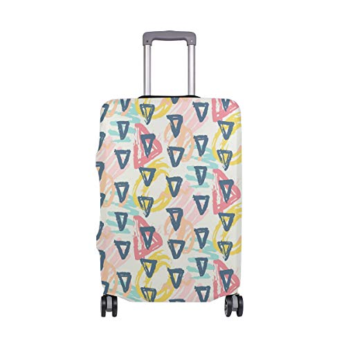 Colored Inverted Triangle Geometric Travel Luggage Protector Case Suitcase Protector For Man&Woman Fits 18-32 Inch - Inverted Triangle Earrings