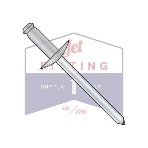 3/16'' x .50''-.62'' (#610) Large Flange Blind Rivets / Aluminum Body / Steel Mandrel / Max Barrel Length: .825'' (QUANTITY: 2,000 pcs)