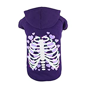 f0e62b176 Royal Wise LED Light Up Pet Holiday Halloween Pet Clothes Hoodie Dog Cat Festival  Costume