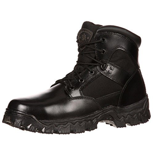 Rocky Alphaforce Boots (Rocky Men's AlphaForce Waterproof Duty Boot,Black,15 W)