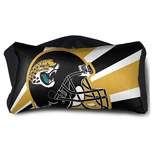 Marrytiny Custom Colorful Small 2 in 1 Travel Pillow and Eye Mask Jacksonville Jaguars Men Women Head Pillow Multi-Purpose Lightweight Blindfold Blackout Sleeping Mask Neck ()