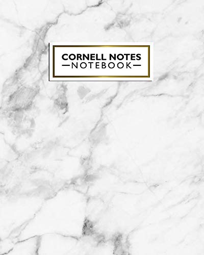 Cornell Notes Notebook: Cute Large Gray Marble Cornell Note Paper Journal. Nifty College Ruled Medium Lined Notebook Note Taking System for School, College and University
