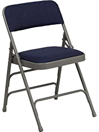 flash furniture hercules series curved triple braced u0026 double hinged navy fabric metal folding chair
