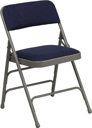 4 Unidades Beige Tela Plegable sillas, Estructura metálica ...