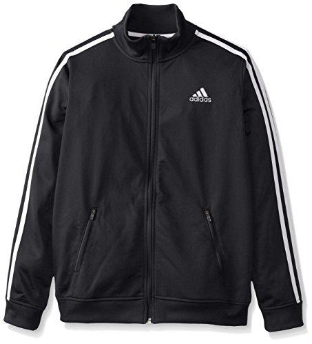 adidas Big Boys' Separates Training Track Jacket, Black/White, Small/8 (Boys Track Jacket)