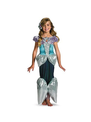 [Ariel Deluxe Child Costume - Medium] (The Little Mermaid Couple Costume)
