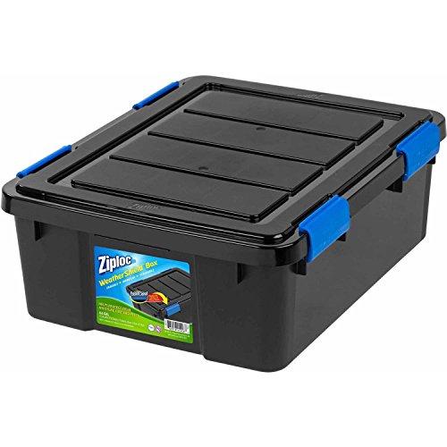 (Ziploc 26.5 Qt. Small WeatherShield Storage Box, 1, Black  )