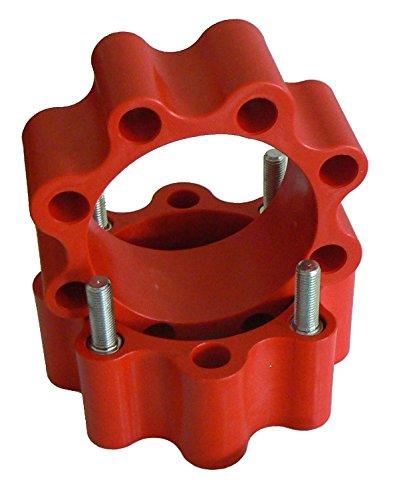 spessore 50 mm x Quad doppio Interasse Distanziali ruota posteriore in nylon di colore rosso con fibra di vetro con bulloni Pgs Racing 8PGS41-R