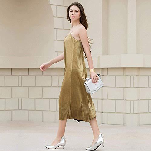 Oudan Oro Verano Vestido Arnés color Tamaño De S Playa vestido falda U0a0ZrxEqw