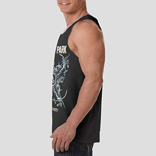 LINKIN PARK リンキン パーク メンズ 印刷 袖なしク シャツ 筋肉シャツ レーニング ティーズ 吸汗速乾