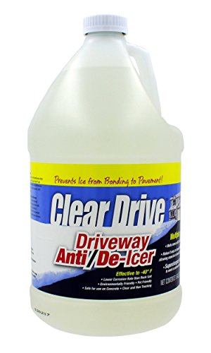 Clear Drive Liquid Calcium Chloride Professional Ice Melter - Pet Safe, Non-Toxic, All-Natural Formula, for De-Icing and Melting Snow and Ice - Works in the Toughest and Coldest Winter Weather! by Clear Drive
