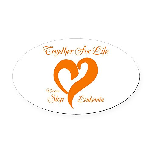 CafePress - Stop Leukemia Oval Car Magnet - Oval Car Magnet, Euro Oval Magnetic Bumper ()