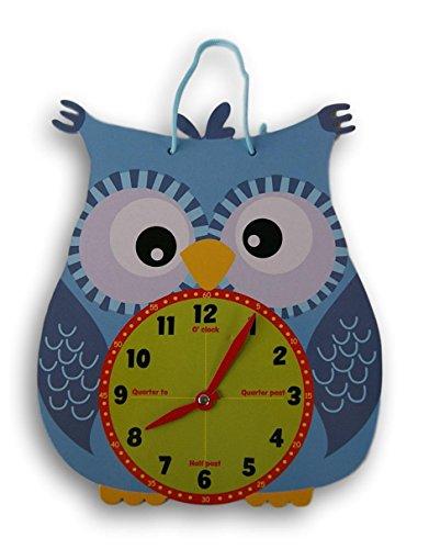 Kids Create Die Cut Owl Shaped Analog Practice Clock Shaped Analog