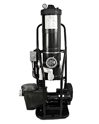 PORTAVAC 1.5 HP In Ground Pump Portable Vacuum System 100 GPM Cart Hitch Capable