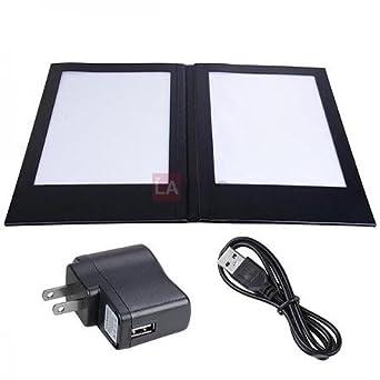 amazon com rechargeable illuminated 8 1 2 x 14 folding menu cover