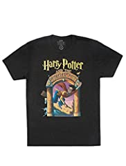 Harry Potter and the Sorcerer's Stone Unisex T-shirt. From the first edition US cover, illustrated by Mary GrandPré. Cotton/Poly blend fitted tee with distressed, softened print. Each purchase helps to fund literacy programs and book donation...
