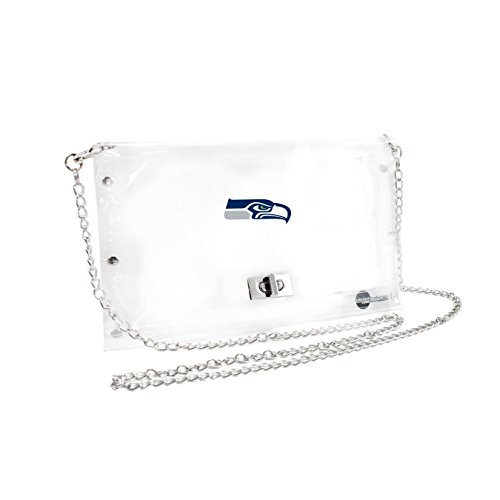 NFL Seattle Seahawks Clear Envelope Purse, 10 x 5 x (Seattle Checkbook Cover)
