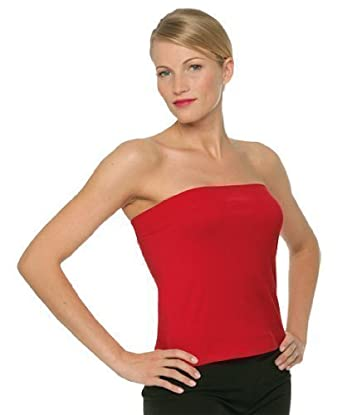 3afe9359306937 Ladies Boob Tube Bandeau Strapless Tops In Black, Deep Red & White:  Amazon.co.uk: Clothing