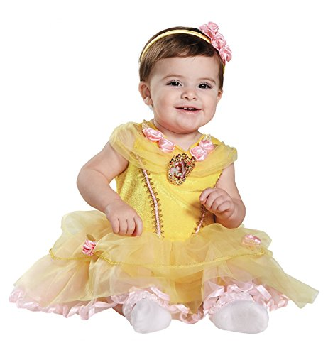 [Disney Baby Girls' Belle Infant Costume, Yellow, 6 to 12 Months] (Belle Halloween Costumes For Women)
