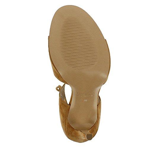 Evita Shoes Eva - Sandalias de vestir de Piel para mujer coñac
