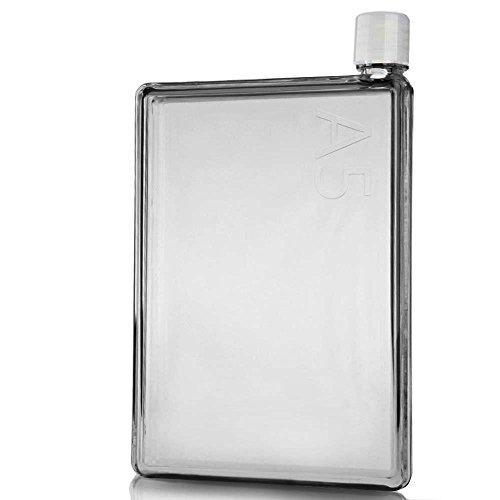 JOYOOO Outdoortrinkflasche für Fruchtschorlen, 420ml, verschiedene Farben erhältlich, BPA-frei (Transparent)