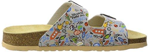 Superfit Baby Jungen Fussbettpantoffel Sneaker Grau (Smoke Kombi)