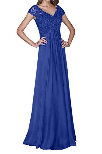 Fuer Braut mia Hochzeits Abschlussballkleider Blau Lang Elegant La Abendkleider Chiffon Mutterkleider Royal Ballkleider Spitze q85xwzx6d