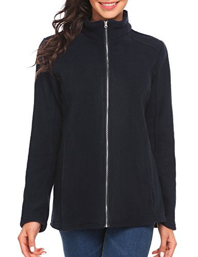 Ladies Full Zip Microfleece Jacket (Soteer Women's Microfleece Jacket Long Sleeve Full-Zip Fleece Jacket Coat)